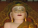 A townsman gave the Buddha his first pair of glasses in the Konbaung era.