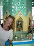 "Cherie by the ""Sunday"" shrine.  In Myanmar, a persons personality traits are said to depend on which day they were born."