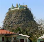 Mt. Popa blew its top and the volcanic plug came to be known as Taung Kalat.