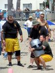 The next event is the grueling Sandbag Carry.