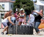 Three of the competitors in Strongman were strong women.