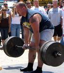 Dead lifting 500-pounds.
