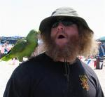 Birds flock to strongmen like previous champion Kevin Kinzy.