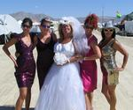 Anne surrounded by her bridesmaids.  Their job--to keep the dust off!