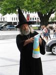 "The famous ""Wizard"" of Christchurch gives daily dissertations about politics and religion."
