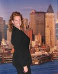 Cherie in New York City.  (In case you couldn't tell...the backdrop is fake.)
