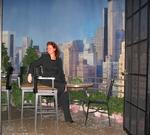 "Taking a break on the balcony set of ""Regis & Kelly."""
