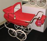 You can spend $995 USD on a carriage for your doll (not your infant!) at FAO Schwartz.
