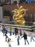 Open from October to April, the Ice Rink at Rockefeller Center can hold 150 skaters at a time.