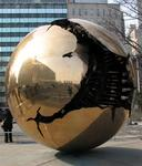 "The ""golden globe"" at the United Nations in New York."