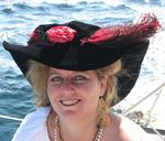 Pirate Anne always has a new feather in her hat.