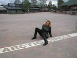 Cherie crosses the Arctic Circle one last time!
