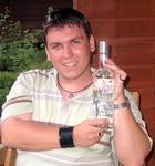 Brad with his Finlandia Vodka.