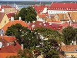 Colorful Estonian rooftops.
