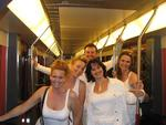 Taking mass transit to Sensation White.
