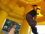 Tyler flips for bouncy-houses.