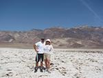 Cherie and Greg on the salt cracked Devil's Golf Course in Death Valley, California.
