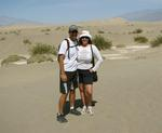 Cherie & Greg by the Mesquite Flat Dunes.
