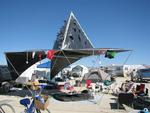 Our camp in 2008. Shade structure compliments of Greg.
