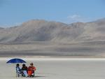 In the Black Rock Desert, BYOS (Bring your own shade!)