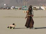 Pets are not allowed at Burning Man.