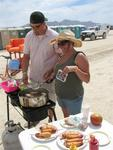 Yes, they made corn dogs on the playa.