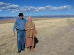 Mark and Ann with the big Wyoming sky.
