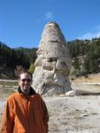 Greg by Liberty Cap, a dormant hotspring cone.