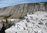Although most of Yellowstone National Park is above 7500-ft, this isn't snow!