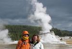 Cherie and Greg by the geyser.