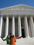 Cherie & Greg at the Supreme Court.