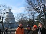 Greg, Cherie, Lisa & Jean with the Capitol.