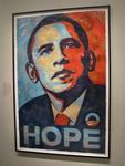 "The original ""Hope"" artwork by Shepard Fairey is on display at the National Portrait Gallery."