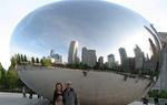 With the mirror bean in Chicago.