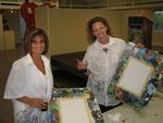 Cherie and Diane ready to begin their night of painting.