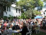 The crowd in the garden of Key West's Oldest House, the location for the 2009 Key West Conch Honk.