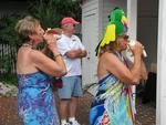 The winners of the group competition blew a conch song from Jimmy Buffet.