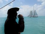 Grog and tallships in the seas near Key West. (That's Captian Bloody Spike Pierce.)
