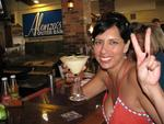 Our second drink is one of my favorite's in Key West--the Key Lime Martini at Alonzo's (if you go between 4 and 6:30, it's half price.)