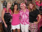 "Michelle, Tonya, Bev (Mom) and Cherie. We hosted a ""pink party"" to gather our friends and family to help our Mom fight breast cancer."