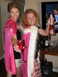 Jean and Cherie with the magic pink capes.