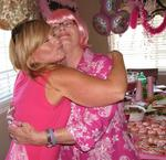 Lots of hugs and lots of pink.