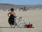 Karem on the playa.