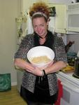 "Cherie with one ""Cherie serving"" of pasta."