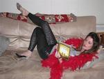 This is one of my favorite photos of Brooke. She's reading: Married for Life.