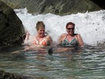 Jean and Cherie in the Bubbly Pool